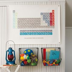 Kids Storage: Wire Wall Storage Bins in Shelves & Hooks | The Land of Nod