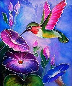 Birds Painting, Art Painting, Flower Art Painting, Hummingbird Painting Acrylic, Glass Painting Designs, Hummingbird Painting, Painting, Bird Artwork, Art