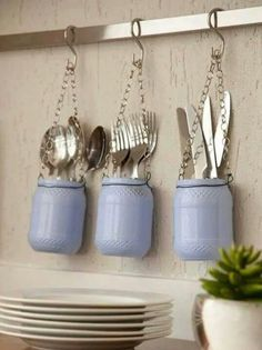 Make yourself glass jars in your home decor Loved it ! One more organizational tip for your kitchen. With some glass jars you .