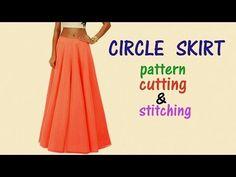 How to make a circle skirt lehenga Cutting and Stitching Simple Method ( DIY) - YouTube