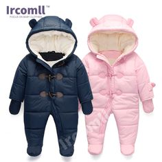 lrcoml Keep Thick warm Infant baby rompers Winter clothes Newborn Baby Boy  Girl Romper Jumpsuit Hooded Kid Outerwear For 0-24M. Зимняя Детская ОдеждаТолько  ... 9eccca3a62f