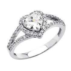 14K White Gold Heart Solitaire CZ Cubic Zirconia Engagement Ring Band - Size 4 GoldenMine http://www.amazon.com/dp/B0054T7U6E/ref=cm_sw_r_pi_dp_ASjhub0VXY1M9