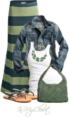 I want this skirt... and the jean jacket.