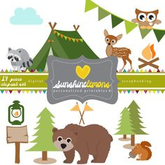 INSTANT DOWNLOAD!!!  This listing is for the digital file of the Campout Clipart