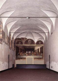 Milan, Italy   Leonardo da Vinci, Last Supper, 1498   Refectory, Convent of Santa Maria delle Grazie