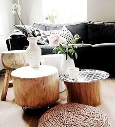 tocones de madera para decorar hogar (4)