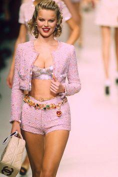 244433cf6b Eva Herzigova Walks The Runway Wearing Karl Lagerfeld During Fashion Week