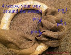 How to make a Burlap Ribbon Wreath - Mommy Is Coo Coo