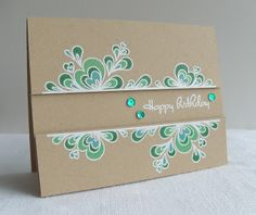Procraftination: Kraft, bling & embossing - A CASual Fridays card