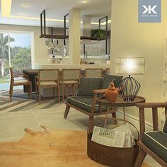Adoramos espaços que integram várias funções, são ideais para receber os amigos seja para um jantar, uma sessão de filme, um bate-papo, ou tudo ao mesmo tempo. Esse espaço gourmet se uni à sala de jantar e ao home theatre, tudo com uma decoração em estilo contemporâneo natural bem aconchegante e móveis de design marcante. #DanielKrothArquitetura #DKarquitetura #projeto #espacogourmet #cozinha #jantar #kitchen #design #marcenaria #moveissobmedida #iluminacao #architecture…