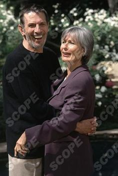 Star Trek star Leonard Nimoy with wife Susan at Hollywood Home.