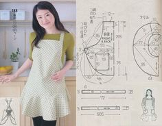 Sewing Basics, Sewing Hacks, Fashion Sewing, Diy Fashion, Apron Pattern Free, Modern Aprons, Cute Aprons, Sewing Aprons, Aprons Vintage
