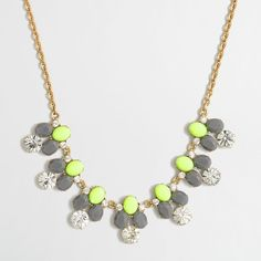 J.Crew Factory rounded crystals necklace ($25) ❤ liked on Polyvore featuring jewelry, necklaces, round necklace, steel necklace, adjustable necklace, steel jewelry and j crew jewelry