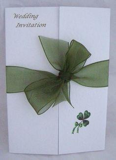 Irished Theme Ireland Gatefold St Patricks Wedding Invitation