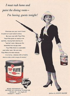 TOP FLITE Paint Ad 1956
