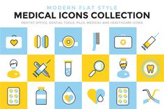 Medical hospital vector icons set by Vector-Stock on Creative Market