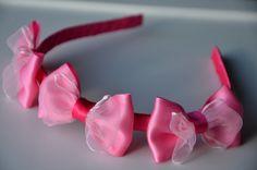 Bow headbandgirl headbandflower headbandpink by MagaroCreations