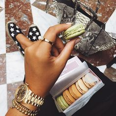 When in Paris 💕💭 what is your favorite flavor of @maisonladuree macaroons? Mine is pistachio, vanilla and (of course) chocolate 👅