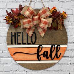 Fall Door Hangers, Custom Door Hangers, Christmas Door Hangers, Wooden Hangers, Door Wreaths, Fall Wreaths, Grapevine Wreath, Holiday Signs, Fall Signs