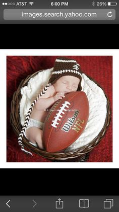 Newborn football photo