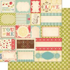 """Scraps"" paper in the Odds & Ends line by Cosmo Cricket"