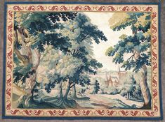 Linens & Textiles (pre-1930) Other Antique Textiles Discreet Antique French Tapestry Made In France