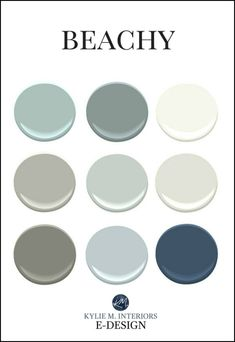 Beach paint colours for mixing and matching patterns. Kylie M INteriors Edesign You are in the right place about tropical beach house decor Here we offer you the most beautiful pictures about the beac Beach House Colors, Coastal Paint Colors, Interior Paint Colors, Paint Colors For Home, Beach House Decor, Coastal Decor, Home Decor, Interior Design, Modern Interior