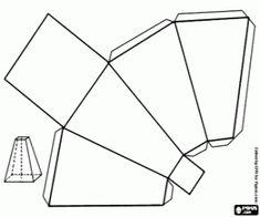 Colorear Pirámide cuadrangular truncada