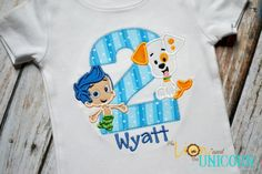 Bubble Guppies First Birthday shirt (Number can be changed) Bubble Puppy and Gil on Etsy, $30.00