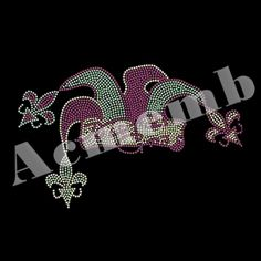 Mardi Gras Rhinestone Heat On Transfer Wholesale