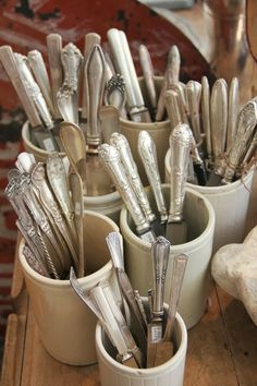 Silverware. I love to mix old patters.