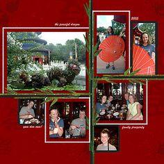 China #Scrapbook Page Layout by Sharon ~ #DisneyScrapbooking