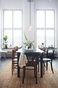 mix n match chairs and light bulbs  B L O O D A N D C H A M P A G N E
