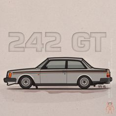 Monkey Crisis On Mars (Volvo 242 GT Artwork of a Volvo 242GT (the one...)