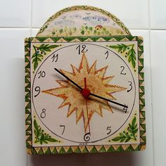 Hand painted ceramic clock. Rellotge de ceràmica. Clock, Wall, Home Decor, Watch, Decoration Home, Room Decor, Interior Design, Home Interiors, Clocks