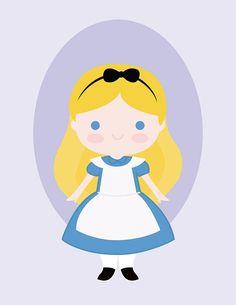 Alice nel paese delle meraviglie PDF stampabile DIY Poster