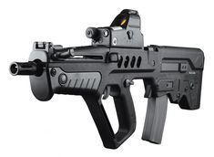 (Tavor) is an Israeli bullpup assault rifle chambered for NATO ammunition with a selective fire system, selecting between semi-automatic mode and full automatic fire mode. Built around a long-stroke piston system (as found in the Garan