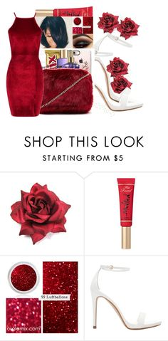 """Happy Valentines Day"" by royaltyvoka ❤ liked on Polyvore featuring Too Faced Cosmetics, Zara and Boohoo"