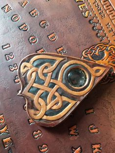 Celtic Tree Of Life, Have Metal, Ouija, Custom Leather, Celtic Knot, Crystal Ball, Just Giving, Leather Tooling, Hand Tools