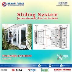 Kenari Djaja menyediakan berbagai Assesories untuk Sliding System, yang dapat digunakan untuk partisi pintu geser dengan harga menarik...  [ K E N A R I D J A J A ]  PELOPOR PERLENGKAPAN PINTU DAN JENDELA SEJAK TAHUN 1965  SHOWROOM :  JAKARTA & TANGERANG  1 Graha Mas Kebun Jeruk Blok C5-6  Telp : (021) 536 3506, Fax : (021) 530 0592  2 Jl. Pinangsia Raya 16 B-C  Telp : (021) 690 5280, Fax : (021) 690 4846  3 Jl. RS. Fatmawati 72/14-15, Cipete (Blok A)  Telp : (021) 720 ..