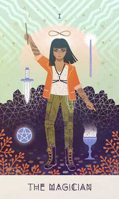 A series of portraits of women representing astrological signs and figures from the tarot deck from NY-based illustrator, Camille Chew. We love the wa...