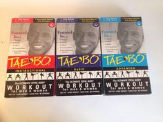 Tae Bo VHS Lot Of 3 Videos Billy Blanks Basic & Advanced Workout Total Body