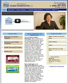Law Office of Marie Washington - http://www.mariewashingtonlaw.com -- Warrenton Virginia law firm specializing in family law, divorce, child custody, criminal law, landlord/tenant law, business law, and traffic violations.  (540) 347-4172.  Website by Herbst Marketing.