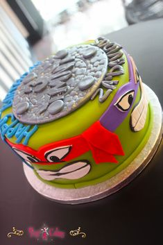 Birthday Cake TMNT Teenage Mutant Ninja Turtles 1 Tier Boy cakepins.com