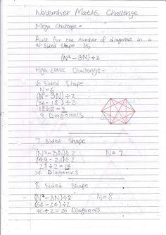 November Maths Challenge
