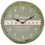 Bottle Top Clock 36cm Green via freedom