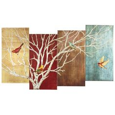Shop for a variety of unique wall art at Pier 1 Imports. Bird Wall Art, Metal Tree Wall Art, Tree Canvas, Canvas Art, Flowers In Jars, Unique Wall Art, Nature Paintings, String Art, Painting Inspiration