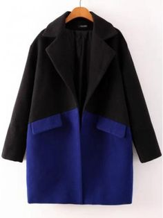 Shop Black And Blue Contrast Color Cocoon-shaped Long Section Woolen Coat online. TrendyFine offers Black And Blue Contrast Color Cocoon-shaped Long Section Woolen Coat & more to fit your fashionable needs. Free Shipping Worldwide!