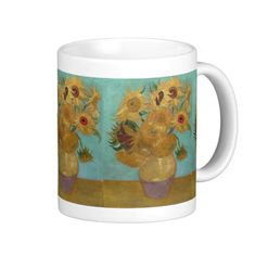 Vase with 12 Sunflowers by Vincent Van Gogh Coffee Mug