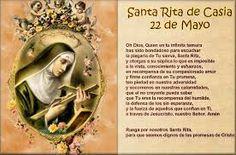 Resultado de imagen de oracion a santa rita